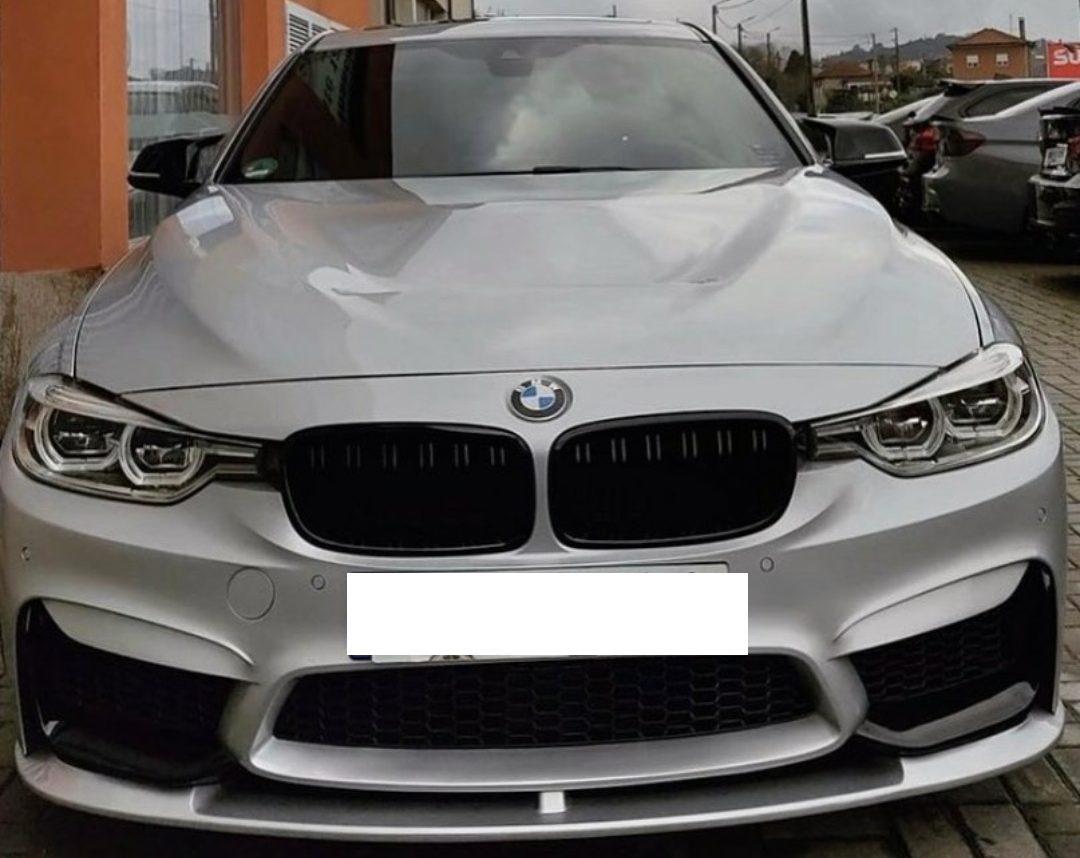 LINHA COMPLETA C/ PANELA BYPASS DUPLA E PONTEIRAS IMPORSPEED, EM BMW 330i